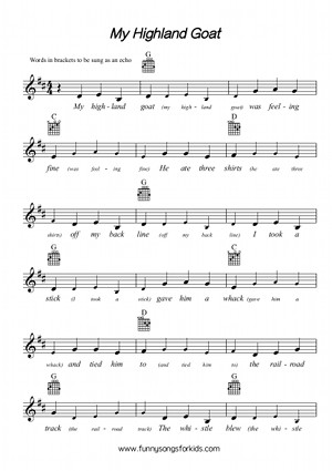 My Highland Goat Free Sheet Music