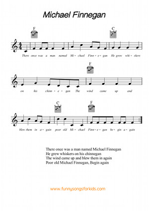 Michael Finnegan Free Sheet Music