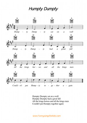 Humpty Dumpty Free Sheet Music