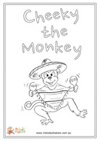 Cheeky the Monkey Coloring Page