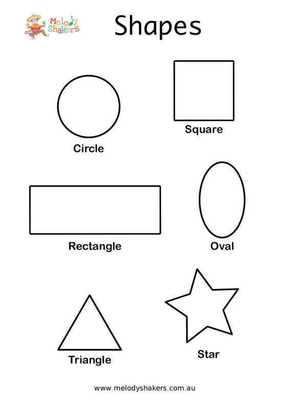 Free Shapes Coloring Page