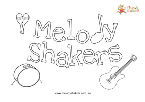 Melody Shakers Coloring Page